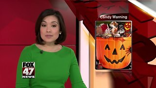 Child found thumbtack in Halloween candy - Video