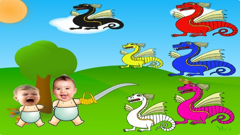 Bad Baby crying and learn colors - learn colors with dragon - Learning Videos for kids