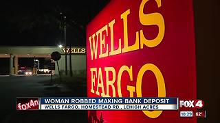 Woman robbed at gunpoint while using ATM at bank in Lehigh Acres - Video