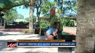 Hillsborough Co. deputy saves homeless Vietnam veteran's life - Video