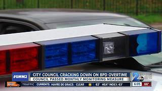 City Council cracking down on Baltimore Police overtime