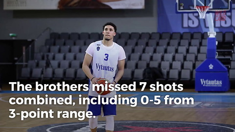 Ball Brothers Combine For Zero Points In Second Game In Lithuania