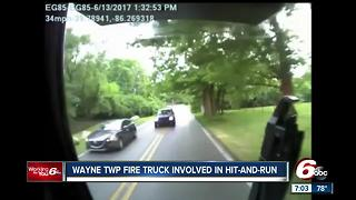 Wayne Township fire truck involved in hit-and-run accident - Video