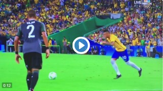 Neymar unbelievable free-kick goal vs Germany - Video