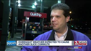 Icy morning commute expected - Video