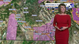 Midday rain gives way to blustery winds across all of southern Idaho Friday