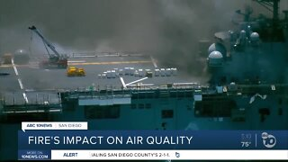 Navy ship fire causing air quality problems in San Diego