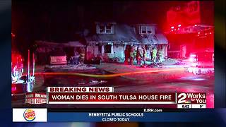 Woman dies in south Tulsa house fire - Video