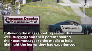 Parent and Child's Texts During School Shooting Released - Video