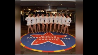 Park Vista Dance Team gets ready for Macy's Parade