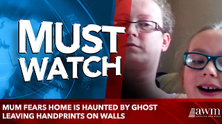 Mum fears home is haunted by ghost leaving handprints on walls