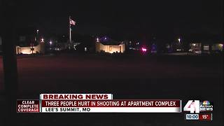 3 people shot at Lee's Summit apartment building - Video
