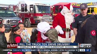 Fill the Truck Toy Drive toy delivery - Video