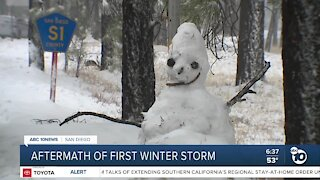 County deals with aftermath of first winter storm