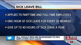 Bill Would Require Businesses to Pay Employees Sick Leave