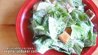 Delicious vegan Caesar salad recipe