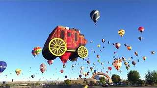 Hot Air Balloon Fiesta in New Mexico - Video