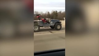 Santa caught cruising on I-70 in Jeep - Video