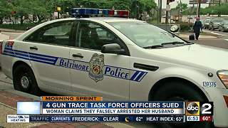 Four Baltimore officers being sued for false arrest, stealing - Video