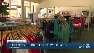 Treasure Coast businesses, hospitals share progress report week after Phase 1 of reopening