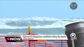 High surf and dangerous conditions along South Florida beaches