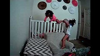 The Great Escape: Little Girl Helps Younger Sister Climb Out of Crib