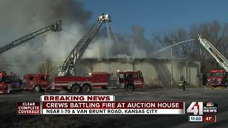 Fire crews respond to building fire in east KC - Video