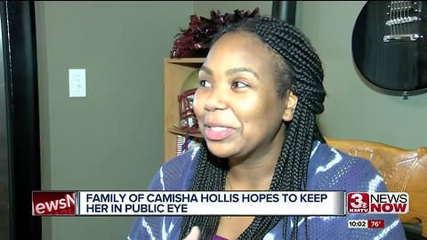 Family of Camisha Hollis hopes to keep her in public eye
