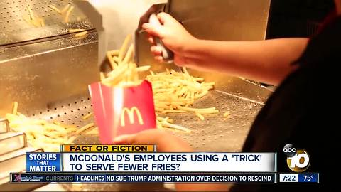 McDonald's french fry trick?