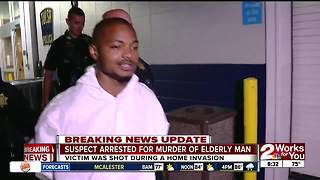 Suspect arrested for murder of elderly man - Video