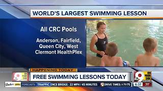 World's largest swimming lesson to take place in Cincinnati