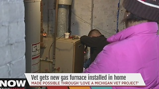 Vet gets new furnace installed in home - Video