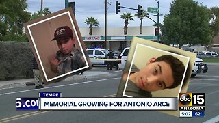 Memorial growing for Antonio Arce