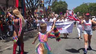 7-year-old trans child wins LA Pride Parade with fierce strut in heels - Video
