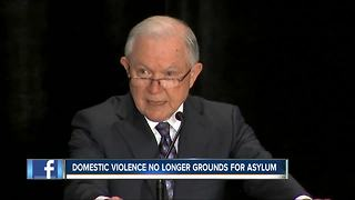 Jeff Sessions changes requirements for Asylum - Video