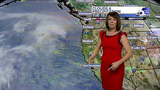A brief break in the action Tuesday before clouds, rain return mid-week