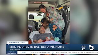San Diego man injured in Bali returns home