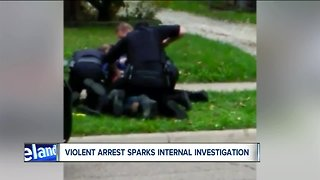 Viral video shows officers tase, punch man on ground; Akron police investigating - Video