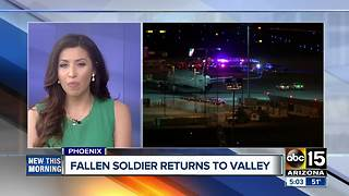 Fallen soldier returns to the Valley - Video