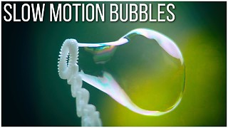 Who Knew That Blowing Bubbles In Slow Motion Could Be So Satisfying