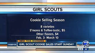 Girl Scout cookie sales starting