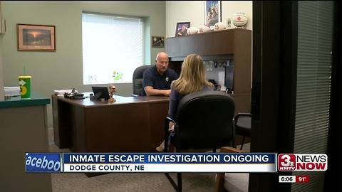 Sheriff reviewing policy after inmate escape
