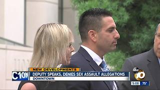 Deputy accused of sexual assault speaks publicly