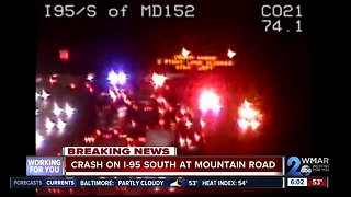 At least one person dead after crash on I-95 South