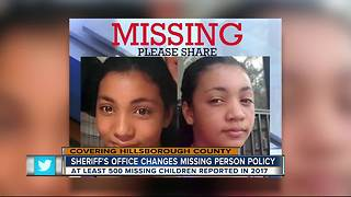 HCSO changes missing person policy - Video
