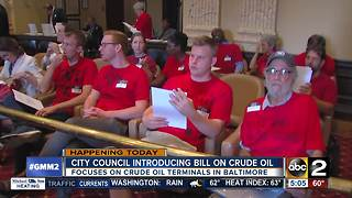 City Council introducing crude oil terminal bill - Video