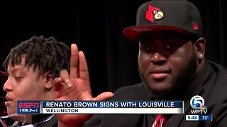Renato Brown signs with Louisville