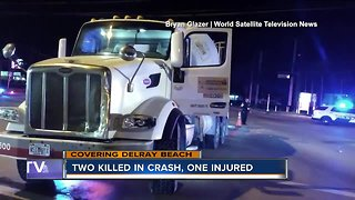 Two killed in crash, one injured in Delray Beach