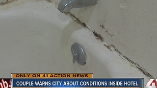 Couple warns city about conditions inside hotel