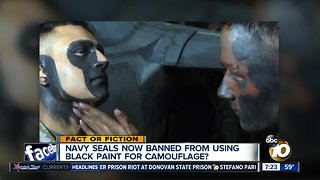 Seals banned from using black face paint?
